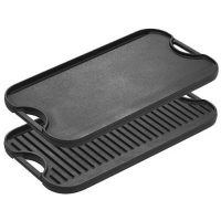 Lodge Pro-Grid Cast Iron Grill and Griddle Combo