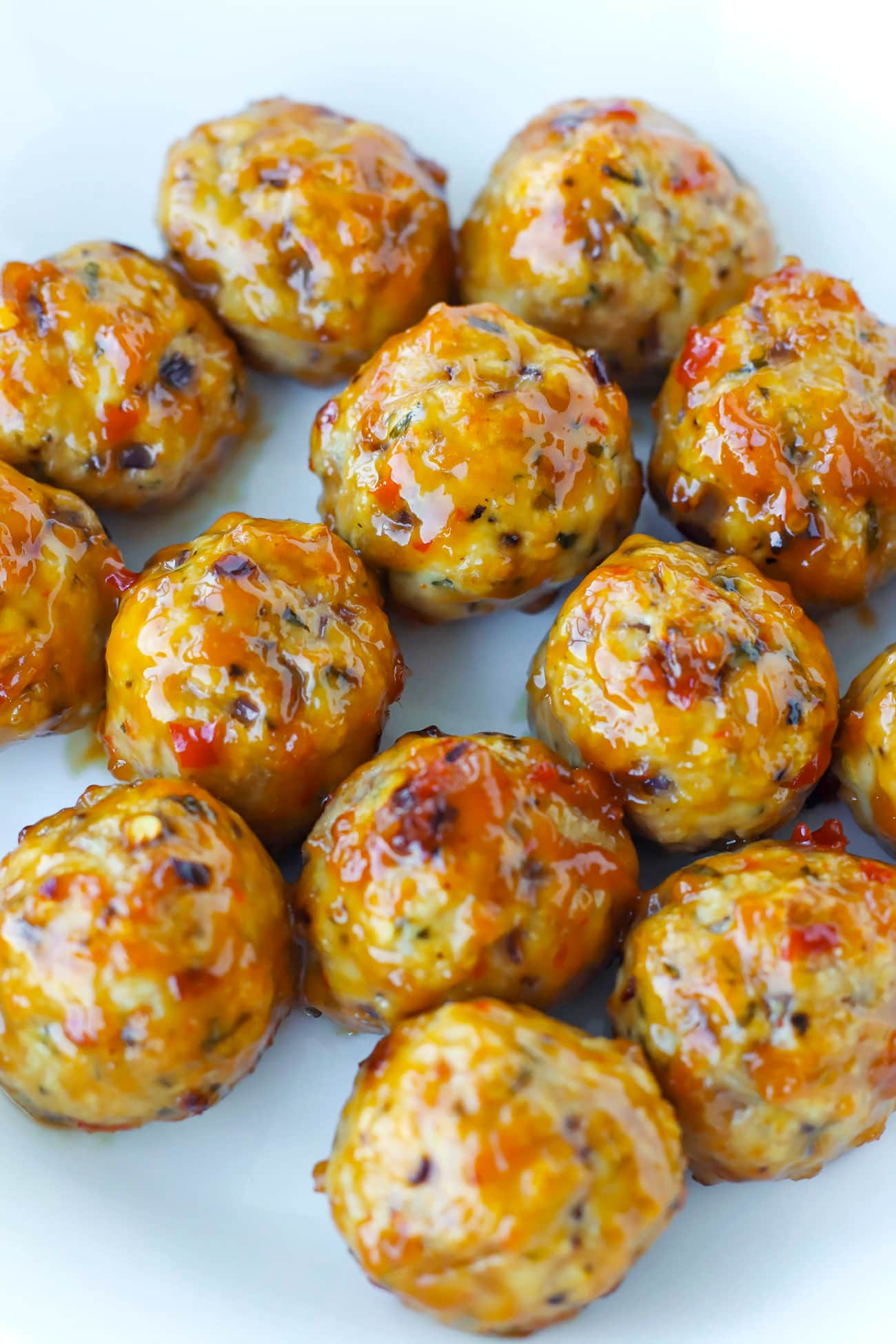 Baked Spicy Chicken Meatballs That Spicy Chick