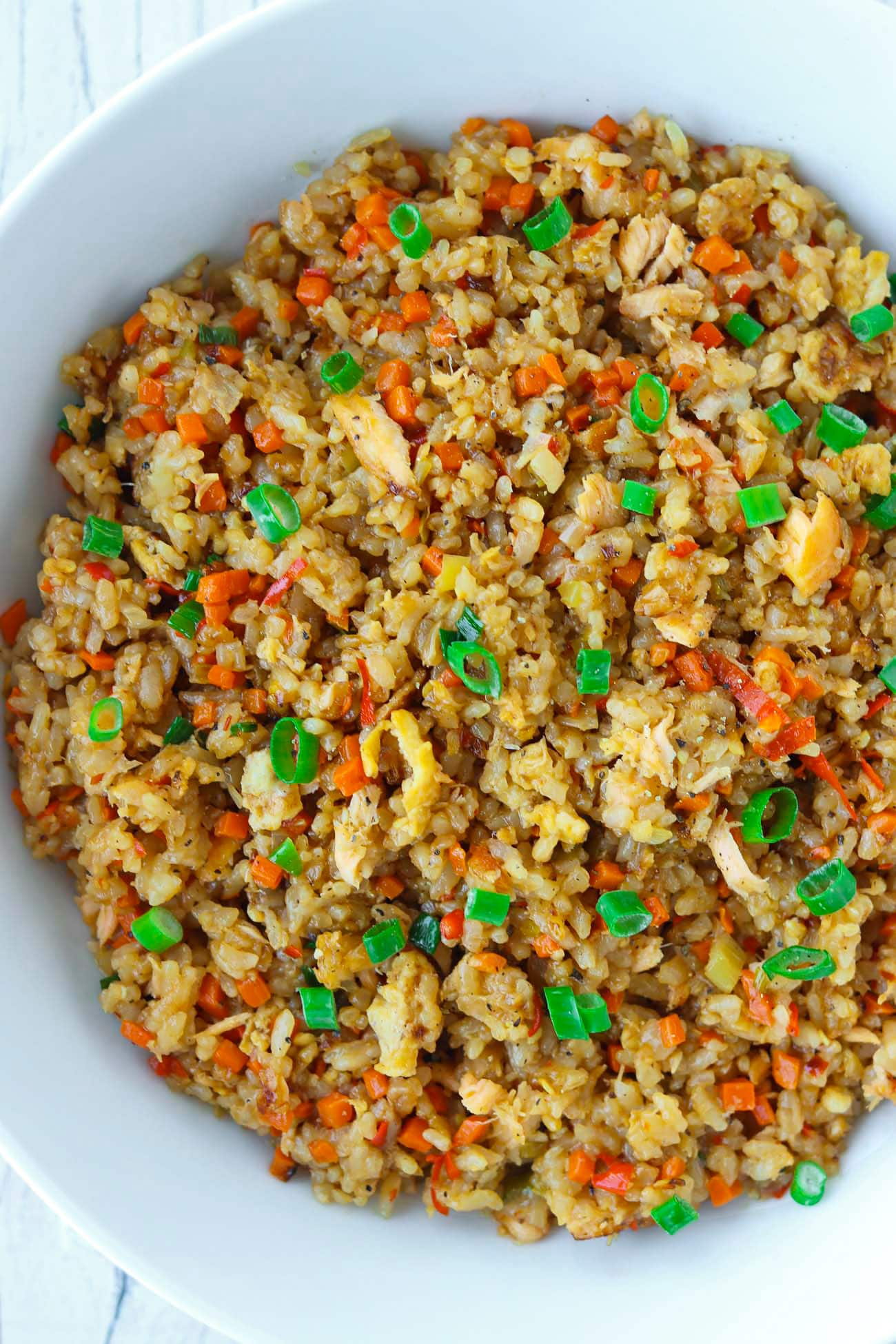 Garlic Salmon Fried Rice (easy weeknight dinner!) – That ...